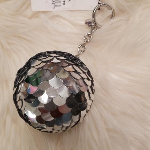 Michael Kors Accessories - Michael Kors silver disco ball key fob